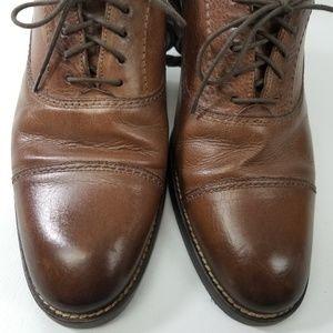 Johnston & Murphy Shoes - Johnston & Murphy Brown Cap Toe Oxford 59 11826